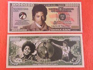 MICHAEL JACKSON International King of Pop ~^~ $1,000,000 One Million Dollar Bill