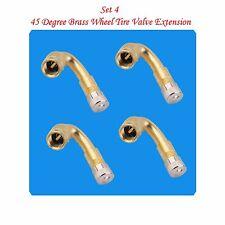 4 Kits Brass Tire Valve Extension  135 Degree for Cars & Light Trucks
