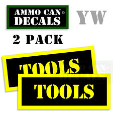 TOOLS  Ammo Can Box Decal Sticker bullet ARMY Gun safety Hunting Label 2 pack YW