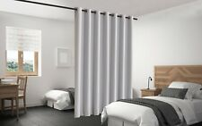 Blackout Room Divider Curtain Panel Privacy Screen Thermal Insulated Stone Color