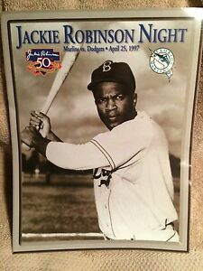 Florida Marlins Jackie Robinson Night Photo 4/25/97 Rare Collector's Item
