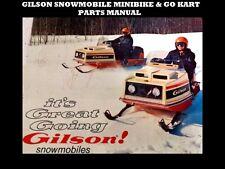 GILSON SNOWMOBILE MINI BIKE GO KART FUN CART MANUAL SET 65pgs of Parts Diagrams