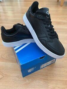 BNIB Adidas Originals Supercourt Black & White Trainers UK 10.5 US 11 EUR 45 1/3
