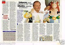 Coupure de presse Clipping 1996 (1 page 1/3) Uderzo présente La galère d'Obelix