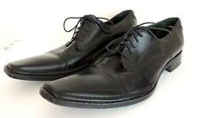 Kenneth Cole Mens 13 Dress Shoes Black Leather ITALY Career Wedding Dressy