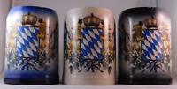 Steinkrug mit bayerischem Wappen 0,5 Liter, Seidel, Humpen, Bierkrug