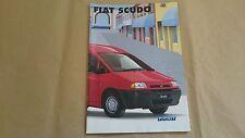 Fiat Scudo 1.9D 2.0 JTD 8V 16V Sales literature brochure 2002 SUPERB CONDITION