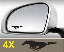 FORD MUSTANG Decal Stickers for Wing side Mirror Glass Silver Frosted Etched Car