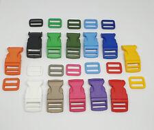 Steckschnalle Klickverschluß 25mm + Schieber farbig