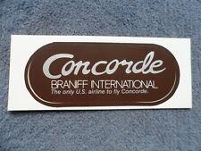 Braniff Airways Concorde Sticker 1980 Rare