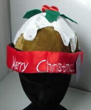 Mens Ladies Christmas Pudding Hat Xmas Fancy Dress Accessory 97