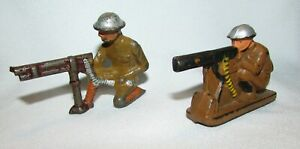 Barclay Manoil & Auburn Rubber Machine Gunners Toy Soldiers