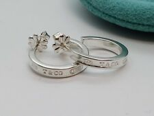 2e7bae1c0 Tiffany & Co. Sterling 925 Silver 1837 Small Hoop Earrings 17mm AUCTION