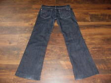 Women's 7 For All Mankind Size 28 Dojo Jeans Low Rise Wide Leg/Flare Dark Blue