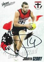 ✺Signed✺ 2010 ST KILDA SAINTS AFL Card JARRYN GEARY