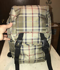 LL Bean Plaid Bookbag/laptop Backpack  LLB#275409  NWOT