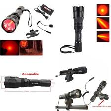 Tactical Red Hunting & Fishing Flashlight Lumens Cree Q5 Rechargeable Waterproof