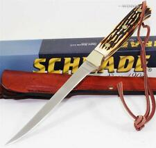 Schrade Uncle Henry Camping Full Tang Fishing Fish Filet Fillet Knife + Sheath