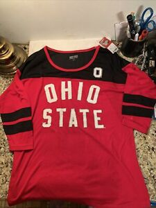 Ohio State Buckeyes Pullover Womens Shirt Size S Bling New W/ Tag Hologram NCAA