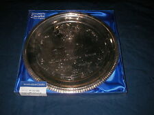 """1981 Prince Wales Lady Diana Royal Wedding Engraved Silver-plated 8"""" Plate MIB"""