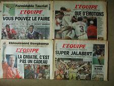 4 journaux l'equipe coupe du monde 1998  3/4/5/6 juillet