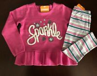 NWT Gymboree Girl Woodland Weekend Sparkle Sweater & Leggings Outfit 2T 3T 4T 5T