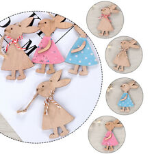 Wooden Hanging Wood Crafts Cute Bunny Easter Rabbit Easter Ornaments