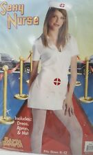 LOT OF 10 Nurse Outfit 3 Pc White Costume Halloween Cosplay One size NIP NEW