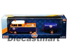 Motormax 1:24 Gulf VW Volkswagen Service Pickup with Oil Tank Diecast Car 79610
