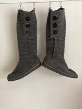 Ugg Grey Wooly Boots Uk 7.5