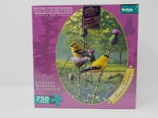 "Hautman Brothers ""Country Morning Goldfinch"" 750 Piece Puzzle New Sealed"
