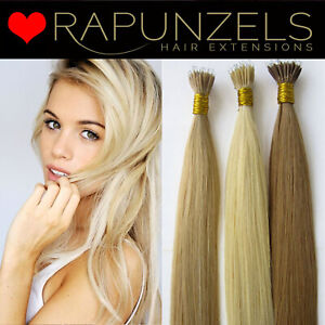 "25 strands nano tip ring hair extensions, 1 gram 20"" long human remy hair"