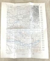 1915 Antique Map of Minneapolis St Louis Park Richfield United States Topography