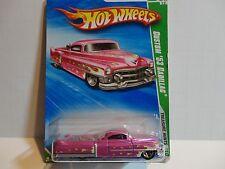 2010 Hot Wheels Treasure Hunt #45 Pink Custom '53 Cadillac w/5 Spoke Wheels