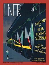 Lner Flying Scotsman. Art Déco Rétro train à vapeur aimant de réfrigérateur