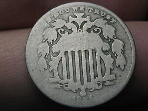 1881 Shield Nickel 5 Cent Piece- Good Details