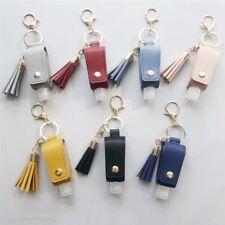 30 ML Portable Handed Sanitizer Holder Hook Keychain Bottle with Tassel Leather