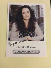 CHERYLEE HOUSTON ITV CORONATION STREET PRE PRINTED SIGNED CARD - MINT CONDITION