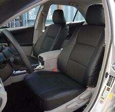 TOYOTA CAMRY 2012-2016 BLACK LEATHER-LIKE CUSTOM FIT FRONT SEAT COVER