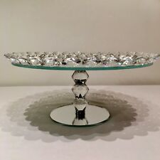 Espejo De Cristal Soporte De Pastel De Muebles Vintage Fruta placa 2 3 niveles de cristal de boda