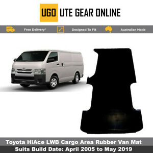 Toyota Hiace Rubber Van Cargo Area Mat  - April 2005 to May 2019 Hi Ace