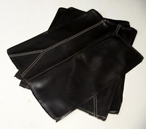 Leather Off Cuts Over 1 Metre Square in Total DARK BROWN 3 Pieces 58cm x 70cm