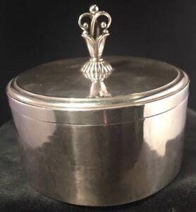 Rare Georg Jensen Sterling Silver Lidded Box # 172E Harald Nielsen