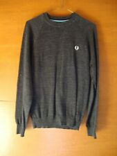 Fred Perry Dark Grey Pullover/Jumper Size XS *Item being sold for Charity*