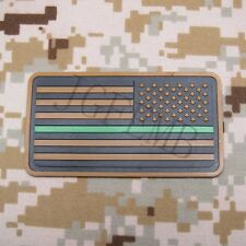 The thin Green line America flag Federal Agents 3D PVC Patch Right