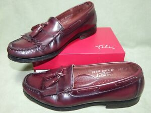 Mens size 10EEE G.H. Bass & Co vintage cordovan leather tassel loafers shoes 10