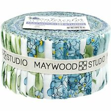 "Maywood Watercolor Hydrangeas 2.5"" Strips (40pcs)"