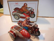 tin toy tole moto motorcycle sidecar