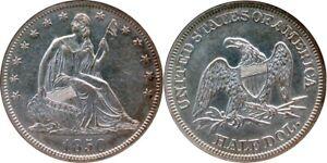 1850 ~ RARE Date ~ 50c Seated Liberty Half ~ NGC AU55 ~ Very CHOICE!! Lustrous!!