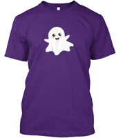 Cute Happy Ghost Smiling Happily Hanes Tagless Tee T-Shirt
